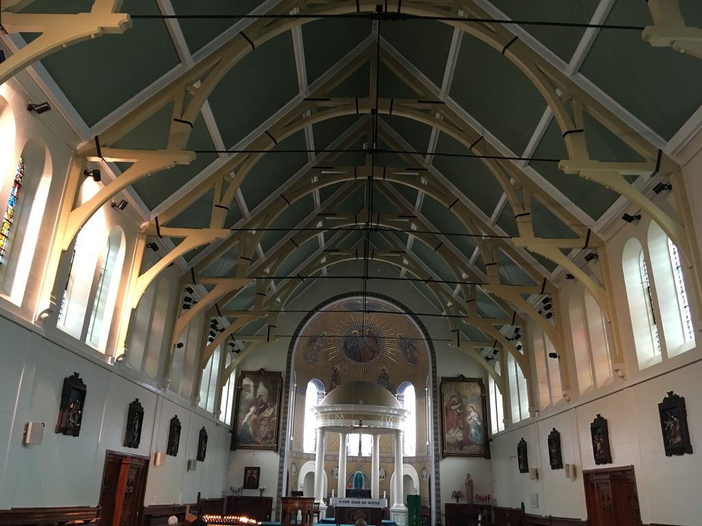 St Mary's Church, Belfast - Refurbished Main Ceiling